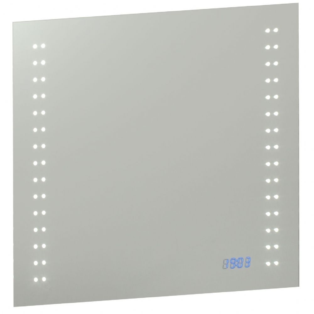 LED Mirrored glass & matt silver effect paint IP44 Bathroom Mirror Light with Shaver Socket 39233 by Endon